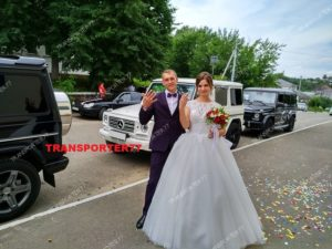 Свадебный прокат белого и чёрных Гелендвагенов