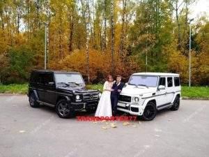 Аренда белого и чёрного геликов на свадьбу