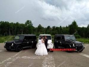 Свадебный прокат белого и чёрных геликов